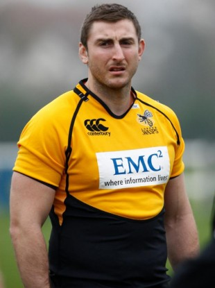 O'Donoghue pictured at training with Wasps this morning.