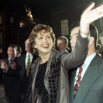 31 October 1997: Mary McAleese is congratulated as she arrives at Dublin Castle after becoming the eighth president of Ireland.   (Photo Owen Humphreys/PA)