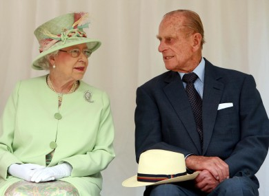 Prince Philip pictured with the Queen earlier this year