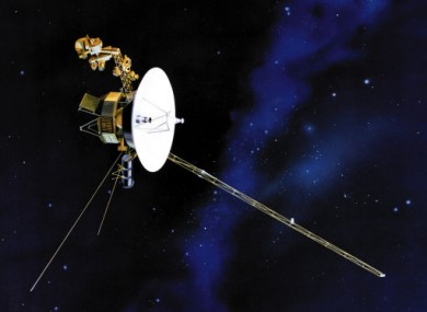 An artist's impression of one of the Voyager probes in space.