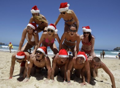 Christmas Day 2010 on Bondi Beach, Sydney.