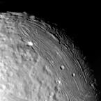 The terrain on Miranda, one of the moons of Uranus. (NASA)