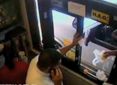This woman was caught throwing back food at a McDonald's employee
