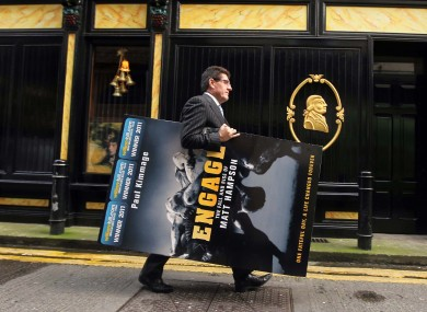 Paul Kimmage at this afternoon's announcement on Dawson St, Dublin.