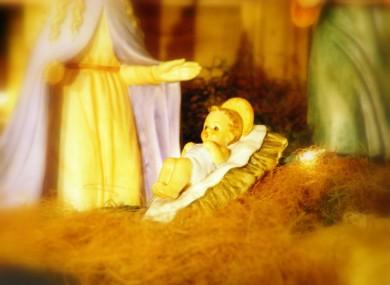 A Baby Jesus figurine, as yet unstolen