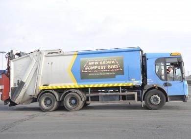 A Greyhound Waste truck in Clondalkin Industrial Estate