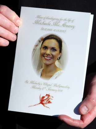 michaela mcareavey anniversary mass told her death has left a painful void