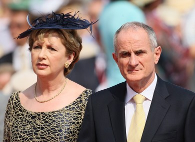 File photo of Mary and Martin McAleese