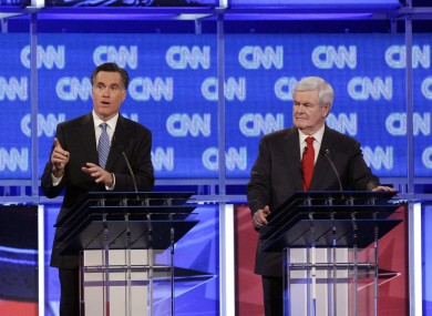 Mitt Romney (left) is the clear frontrunner in the Republican race - but Newt Gingrich (right) has lead the polls in South Carolina.