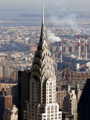 New York's Chrysler Building, which was completed just as the Great Depression struck.