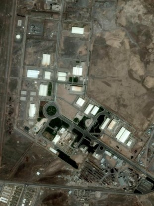 A 2009 satellite image of the nuclear facility at Natanz.