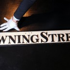 A 19th century Downing Street sign. (2010 auction)