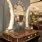 Tortoiseshell and ivory dressing table swing mirror. (2010 auction)
