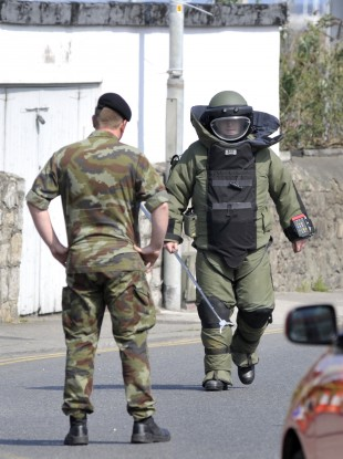Members of the Defence Forces bomb disposal team (File photo)