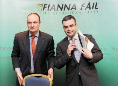 General Secretary of Fianna Fail, Sean Dorgan (left) and Honorary Secretary Dara Calleary