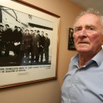 Harry Gregg, who survived the Manchester United Munich Air Disaster, at his Co Derry home.