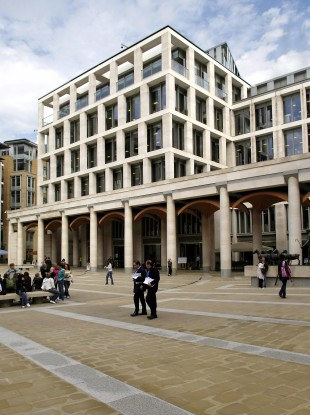 The London Stock Exchange in Paternoster Square in London