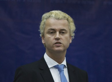 Dutch MP and Freedom Party leader Geert Wilders