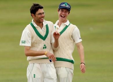 Albert van der Merwe (left) and George Dockrell celebrate (file photo).