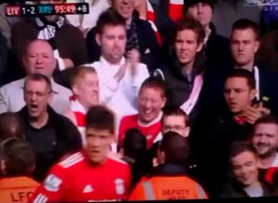 1c4e29e0a WATCH  Arsenal fan goes crazy following Liverpool win · The42