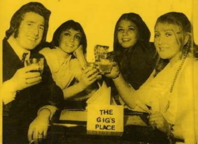 Edele King (aka Twink) appeared at The Gigs Place official opening in 1970.