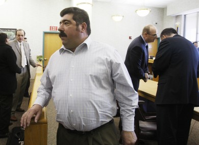 Americo Lopes leaving the courtroom today $10m poorer