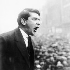 Collins addressing a crowd gathered for the great treaty meeting in College Green on December 6, 1921. (PA Images)