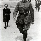 Collins at Portobello barracks, Dublin in August 1922. (PA Images)