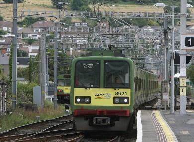 A DART leaving Bray station (File photo)