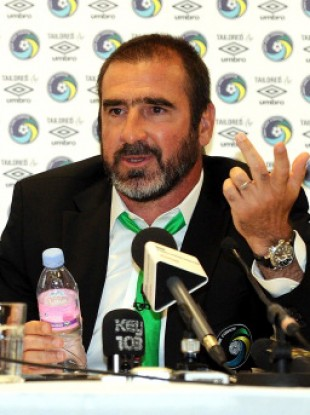 Eric Cantona: you can see it in his eyes.