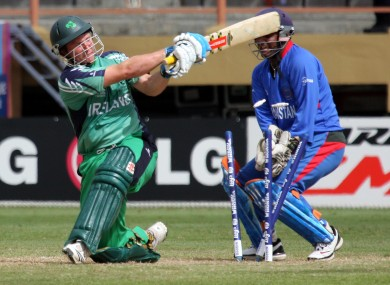 Ireland's Gary Wilson in T20 action v Afghanistan in 2010 (file photo).