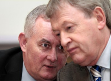 GAA President Christy Cooney, left, and Director General Paraic Duffy.