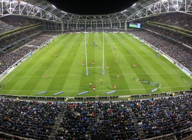 A packed Lansdowne Road.