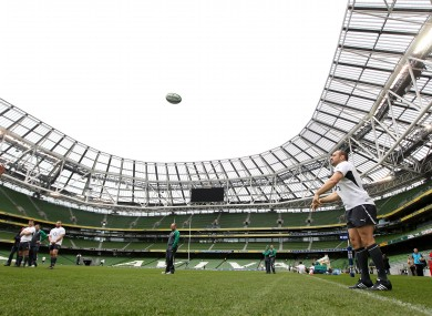 Rory Best practices his throw in D4 yesterday.