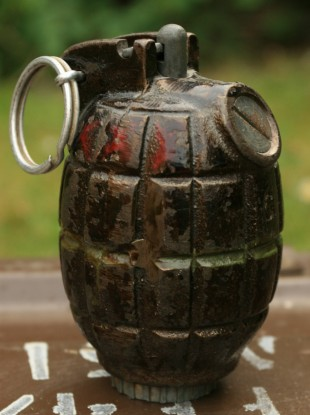 File photo of a Mills grenade similar to that discovered in Leitrim