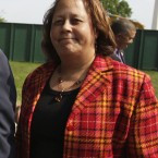 Republican Laura Richardson is seen outside the White House in Washington. Richardson maintains the House Ethics Committee has singled her out for scrutiny because she's African-American. (AP Photo/Carolyn Kaster)