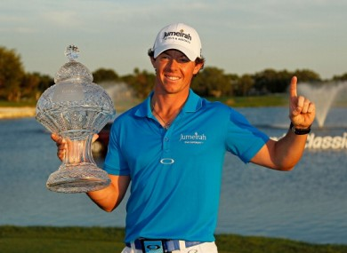 Rory McIlroy: world's top golfer.