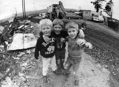 Image from a Traveller halting site in 1988