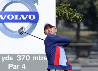 Guan Tian-Lang lets rip at the Volvo China Open