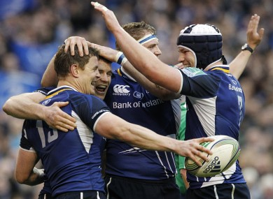It's like he never left: a returning Brian O'Driscoll was among the tryscorers as Leinster demolished Cardiff Blues in today's Heineken Cup quarter-final at the Aviva.