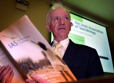 Dan Neville in his capacity as President of the Irish Association of Suicidology at the opening of its annual conference in 2005.
