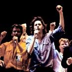 George Michael, Bob Geldof, David Bowie, Bono. Image: Duncan Raban/Duncan Raban/EMPICS Entertainment