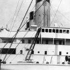 The bridge aboard the Titanic.