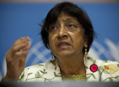 UN human rights chief Navi Pillay.