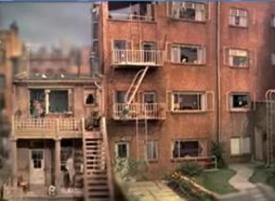 Alfed Hitchcock's 'Rear Window' set