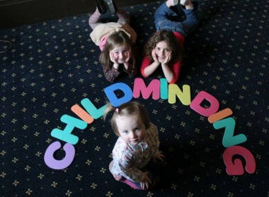 Children at the launch of Childminding Week over the weekend
