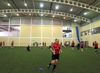 Rory Best leads training as Ulster keep cosy, indoors at Jordanstown.