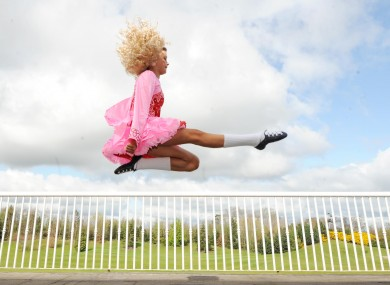 Ciara Hogan rehearsing for the An Comhdhail World Irish Dance Championships at the City West Hotel in Dublin today