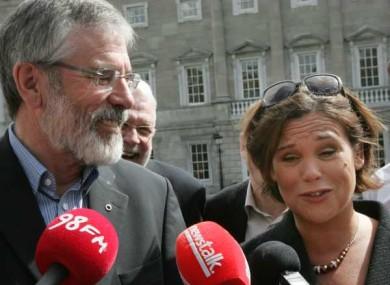 Gerry Adams with TD Mary Lou McDonald