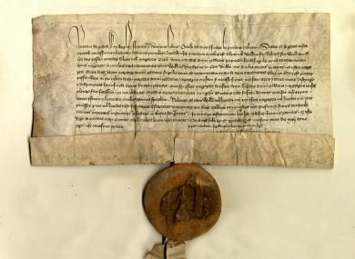 Original Irish chancery letter 1398